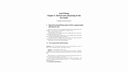 Asset pricing - Chapter 4 part 1