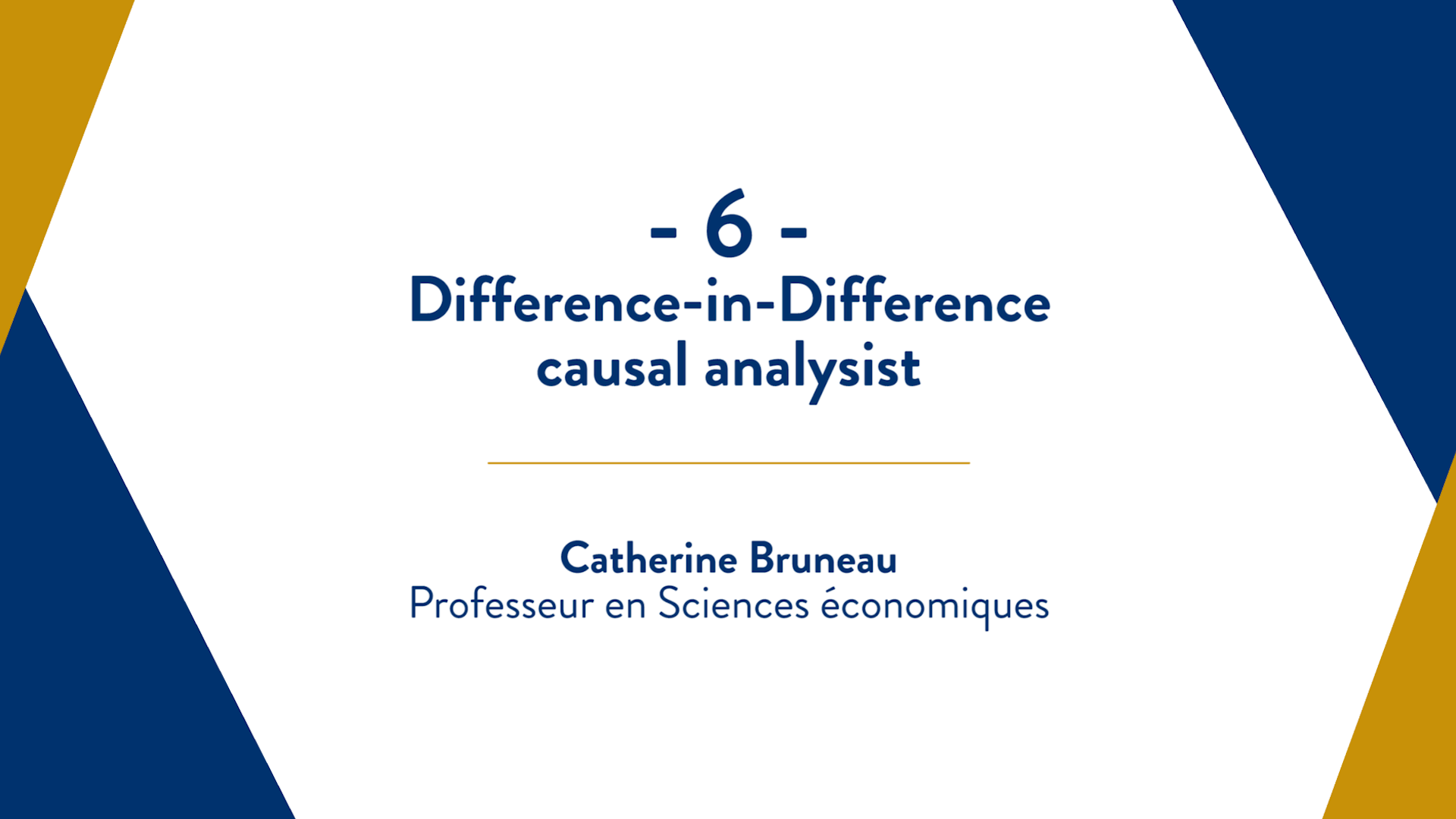 Capsule 6 : Difference-in-Difference causal analysis