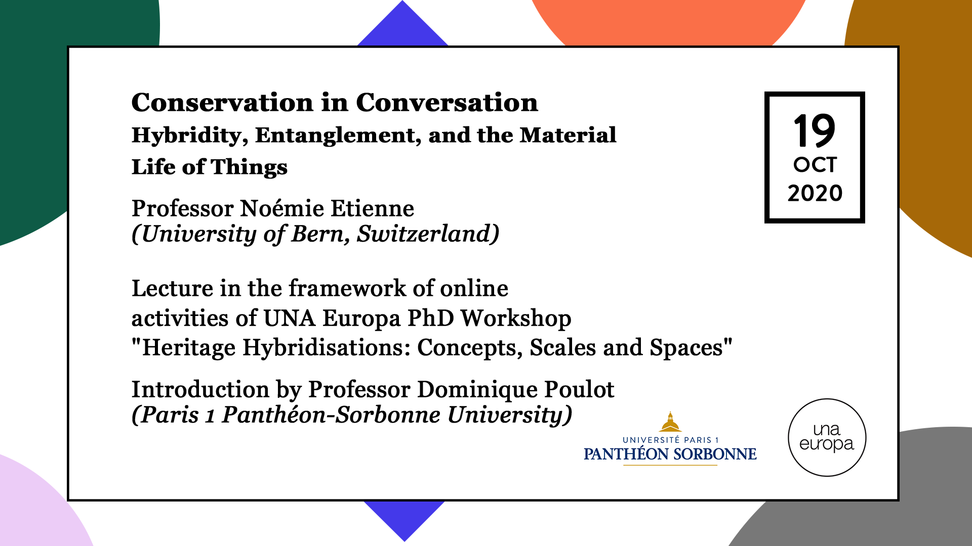 Una Europa - Conservation in Conversation - Hybridity, Entanglement, and the Material Life of Things