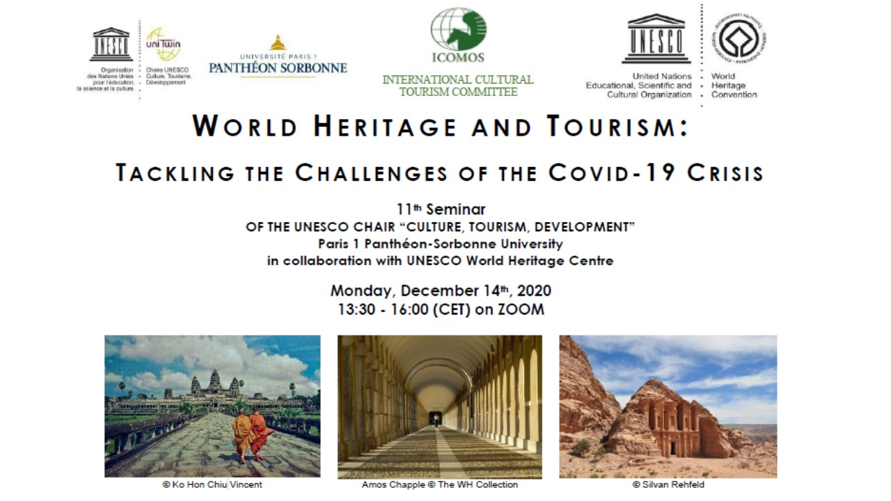 IREST - World Heritage And Tourism : Tackling The Challenges Of The Covid-19 Crisis