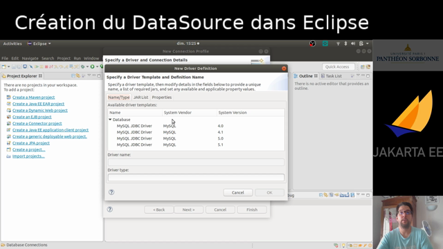 Datasource sous Eclipse